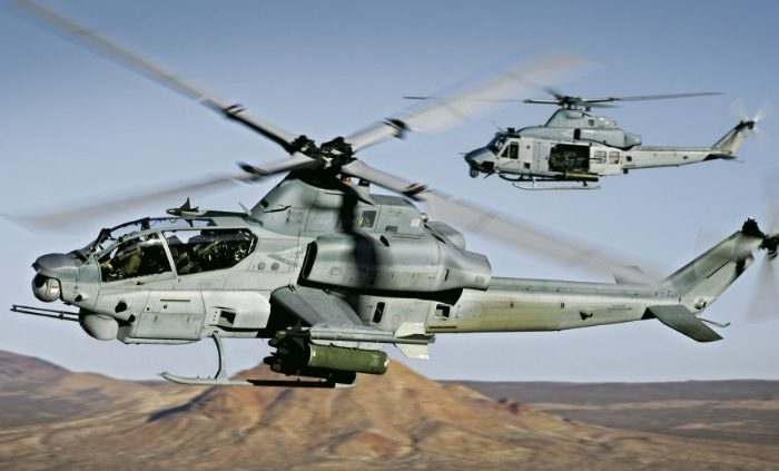 AH-1Z Viper and UH-1Y Venom in flight