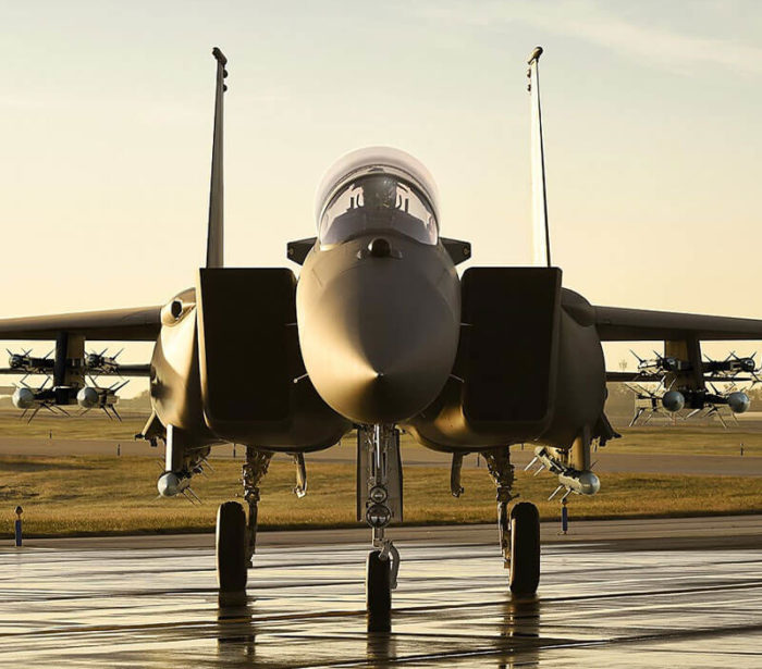 F-15 Eagle head-on