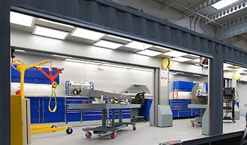 Interior of Configurable Armament/AME Repair Depot (CARD)